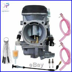 Carburetor for Harley Davidson 40mm CV 40 XL883 Carb with Choke Cable/Spark Plug