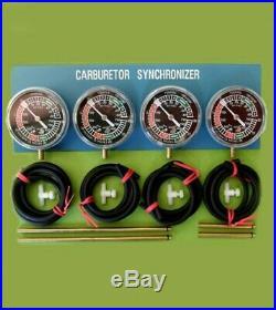 FOUR Motorcycle Carburetor Carb Synchronizer Vacuum Gauge Tool gauge sync Ducati