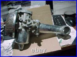 Harley Davidson SU Carburetor, Panhead7 Intake manifold and air cleaner