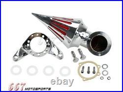 Motorcycle Spike Cone Air Filter Intake For Harley-Davidson V-Twin CV Carburetor