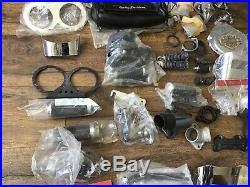 NOS & Used Harley Davidson Parts Lot Carb Muffler Mirror Cover Lenses Handlebar