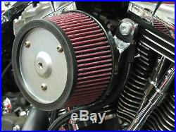 R&R Cycles High Flow Air Cleaner For Harley Davidson With 42MM HSR Mikuni Carb