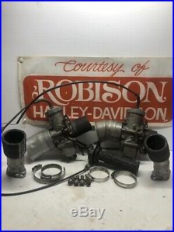 Robison Harley-Davidson Race Team XR-1000 XR-750 Monster Mikuni Carbs & Intakes