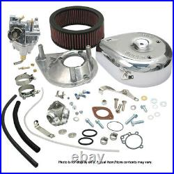 S&S Cycle 11-0402 Super E Carburetor Kit for Big Twin with Standard Tanks