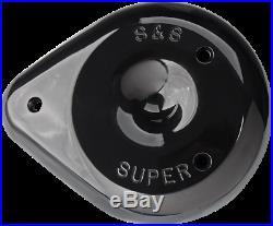S&S Gloss Black Tear Drop Carburetor Carb Air Cleaner Cover for Harley Davidson