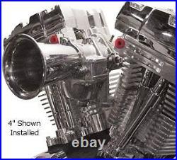 VELOCITY STACK, 4 inch, FOR Keihin CV CARBURETORS For Harley Davidson