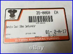 Vintage Harley-Davidson V Twin Mfg. Bendix Cast 38mm Carburetor Carb XL FL FX 72
